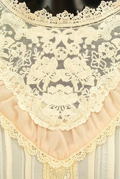 axes femme(アクシーズファム)の古着「シアー刺繍レース切替シフォンブラウス(ブラウス)」大画像4へ