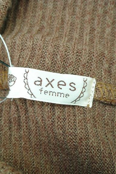 axes femme(アクシーズファム)の古着「ベロアキャミドッキングモックネックニット(カットソー・プルオーバー)」大画像6へ