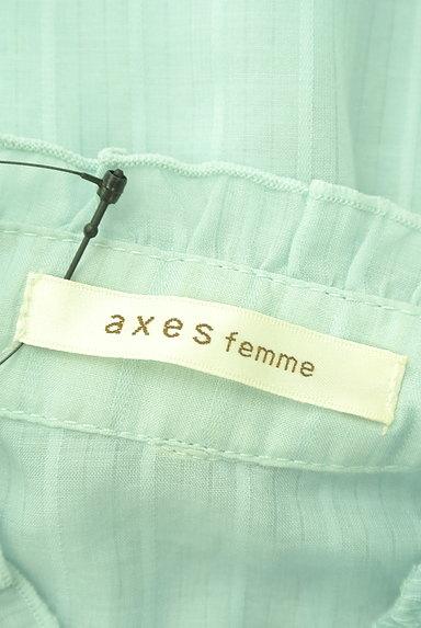 axes femme(アクシーズファム)の古着「リボン付きガーリーシアーブラウス(ブラウス)」大画像6へ
