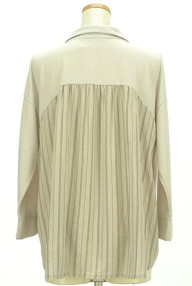 axes femme(アクシーズファム)の古着「バックストライプ裾タックカットソー(カットソー・プルオーバー)」大画像2へ