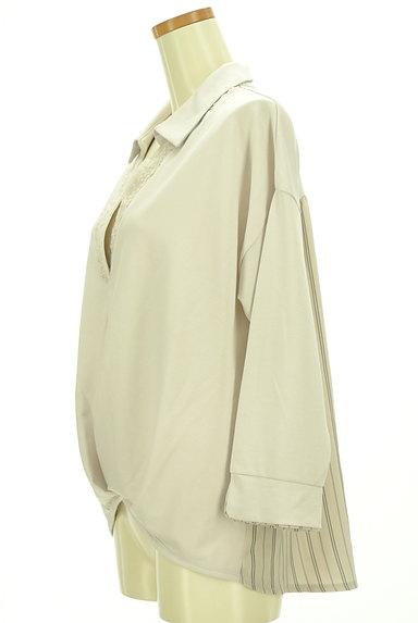 axes femme(アクシーズファム)の古着「バックストライプ裾タックカットソー(カットソー・プルオーバー)」大画像3へ