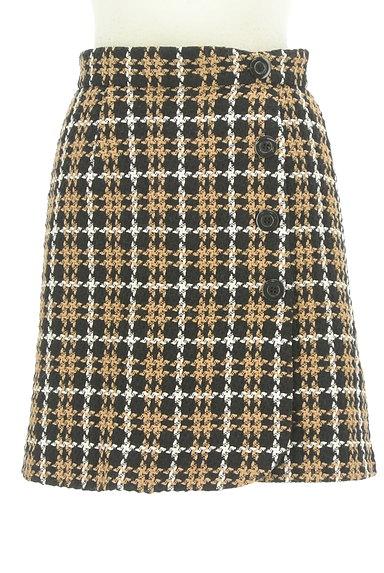 Rirandture(リランドチュール)の古着「チェック柄ラップ風ミニスカート(ミニスカート)」大画像1へ