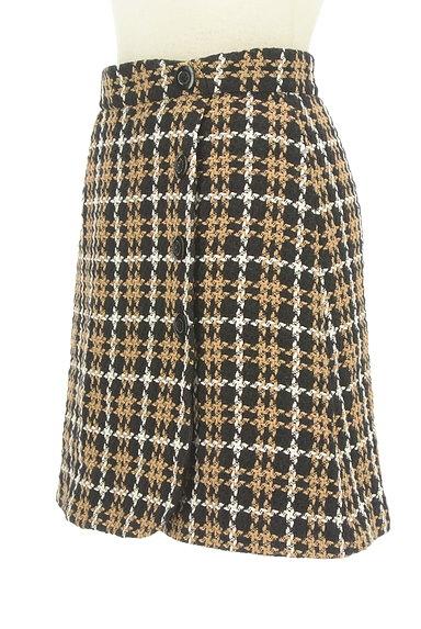 Rirandture(リランドチュール)の古着「チェック柄ラップ風ミニスカート(ミニスカート)」大画像3へ