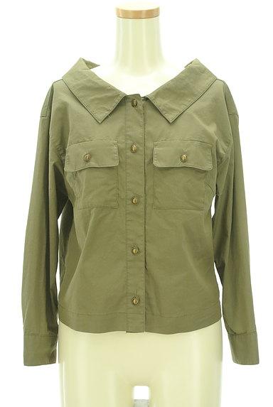 Rirandture(リランドチュール)の古着「レースアップ抜け襟シャツ(カジュアルシャツ)」大画像1へ