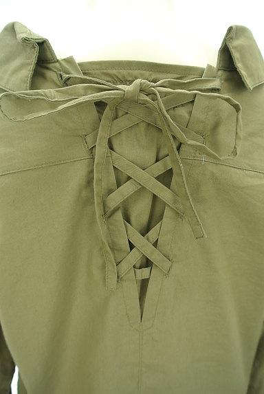Rirandture(リランドチュール)の古着「レースアップ抜け襟シャツ(カジュアルシャツ)」大画像5へ