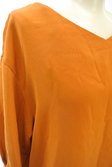NATURAL BEAUTY BASIC(ナチュラルビューティベーシック)の古着「ドロップショルダー七分袖タックカットソー(カットソー・プルオーバー)」大画像4へ