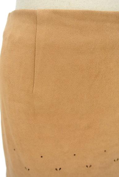 NATURAL BEAUTY BASIC(ナチュラルビューティベーシック)の古着「ミディ丈スカラップスウェードスカート(スカート)」大画像4へ