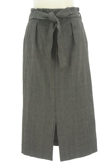 BEAUTY&YOUTH(ビューティ&ユース)の古着「ウエストリボンミモレ丈前スリットスカート(ロングスカート・マキシスカート)」大画像1へ