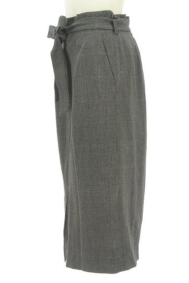 BEAUTY&YOUTH(ビューティ&ユース)の古着「ウエストリボンミモレ丈前スリットスカート(ロングスカート・マキシスカート)」大画像3へ