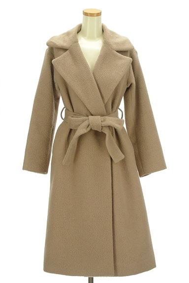 MERCURYDUO(マーキュリーデュオ)の古着「ウエストリボン起毛ロングコート(コート)」大画像1へ