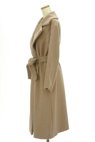 MERCURYDUO(マーキュリーデュオ)の古着「ウエストリボン起毛ロングコート(コート)」大画像3へ