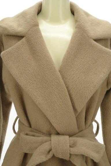MERCURYDUO(マーキュリーデュオ)の古着「ウエストリボン起毛ロングコート(コート)」大画像4へ