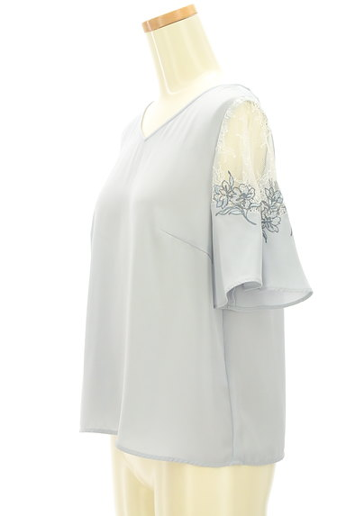 JILL by JILLSTUART(ジルバイジルスチュアート)の古着「花刺繍入りシアーブラウス(カットソー・プルオーバー)」大画像3へ