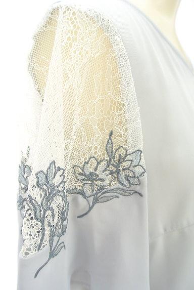 JILL by JILLSTUART(ジルバイジルスチュアート)の古着「花刺繍入りシアーブラウス(カットソー・プルオーバー)」大画像4へ