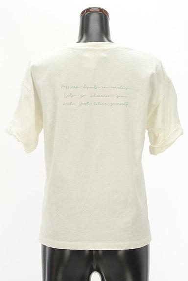 JILL by JILLSTUART(ジルバイジルスチュアート)の古着「ロールアップロゴプリントTシャツ(Tシャツ)」大画像2へ