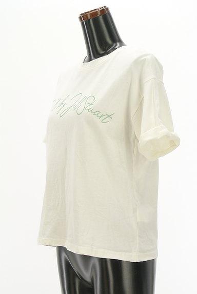 JILL by JILLSTUART(ジルバイジルスチュアート)の古着「ロールアップロゴプリントTシャツ(Tシャツ)」大画像3へ