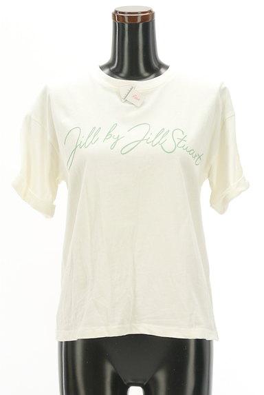 JILL by JILLSTUART(ジルバイジルスチュアート)の古着「ロールアップロゴプリントTシャツ(Tシャツ)」大画像4へ