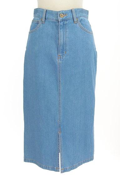 PROPORTION BODY DRESSING(プロポーションボディ ドレッシング)の古着「前スリットミモレ丈デニムスカート(スカート)」大画像1へ