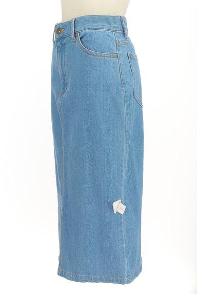 PROPORTION BODY DRESSING(プロポーションボディ ドレッシング)の古着「前スリットミモレ丈デニムスカート(スカート)」大画像4へ