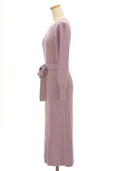 PROPORTION BODY DRESSING(プロポーションボディ ドレッシング)の古着「ミモレ丈ラメニットワンピース(ワンピース・チュニック)」大画像3へ