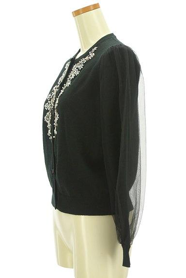 Chesty(チェスティ)の古着「チュール袖キラキラ装飾カーディガン(カーディガン・ボレロ)」大画像3へ
