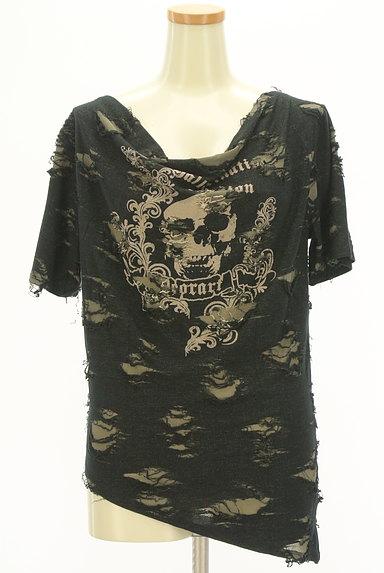 Deorart(ディオラート)の古着「スカルプリントアシメダメージTシャツ(Tシャツ)」大画像1へ
