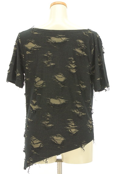 Deorart(ディオラート)の古着「スカルプリントアシメダメージTシャツ(Tシャツ)」大画像2へ