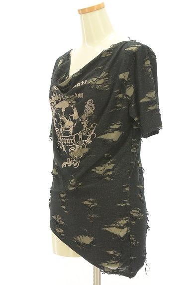 Deorart(ディオラート)の古着「スカルプリントアシメダメージTシャツ(Tシャツ)」大画像3へ