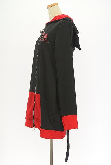 Deorart(ディオラート)の古着「ダブルジッププリントロングパーカー(スウェット・パーカー)」大画像3へ