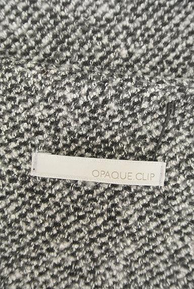OPAQUE.CLIP(オペークドットクリップ)の古着「Vネックツイードフレアワンピース(ワンピース・チュニック)」大画像6へ