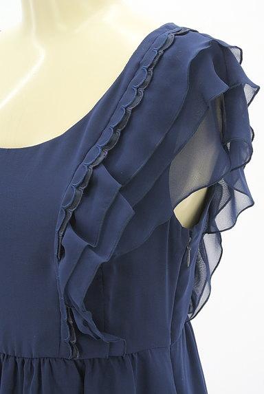 ef-de(エフデ)の古着「フリルシフォン膝丈ワンピース(ワンピース・チュニック)」大画像4へ
