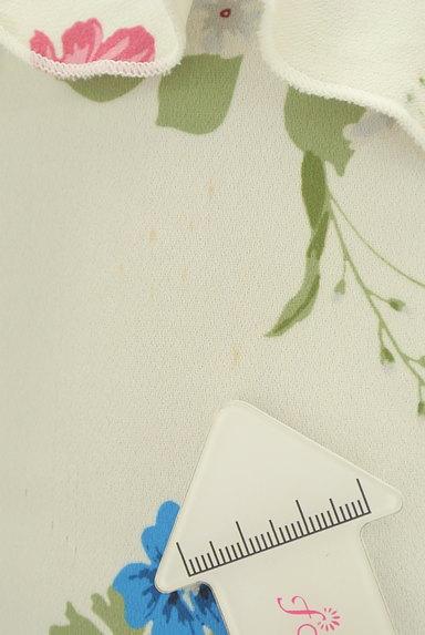 Couture Brooch(クチュールブローチ)の古着「微光沢花柄フリルカットソー(カットソー・プルオーバー)」大画像5へ
