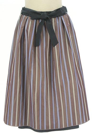 SunaUna(スーナウーナ)の古着「無地×ストライプリバーシブルスカート(スカート)」大画像4へ