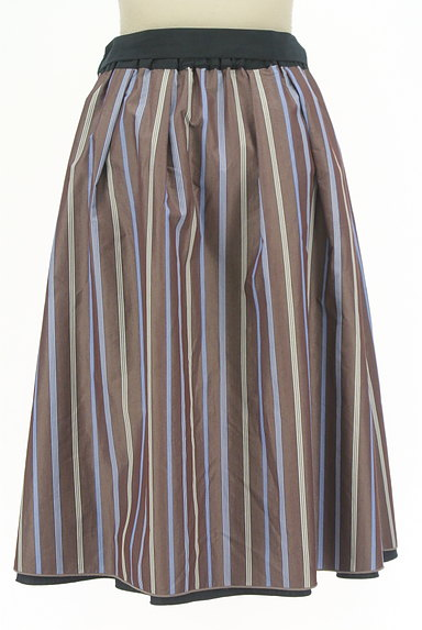 SunaUna(スーナウーナ)の古着「無地×ストライプリバーシブルスカート(スカート)」大画像5へ