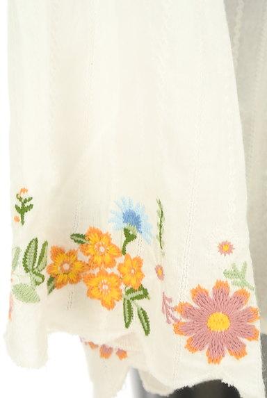 Par Avion(パラビオン)の古着「花刺繍入りフレアスリーブブラウス(カットソー・プルオーバー)」大画像5へ