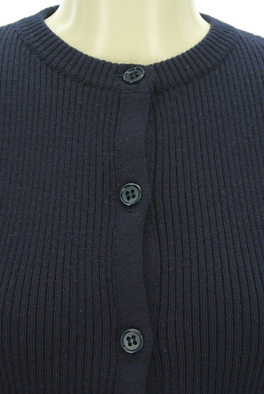 DO!FAMILY(ドゥファミリー)の古着「シンプルリブニットカーディガン(カーディガン・ボレロ)」大画像4へ
