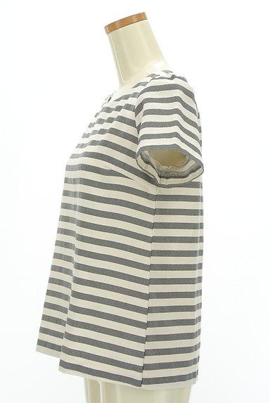 Te chichi(テチチ)の古着「後ろファスナーボーダープルオーバー(カットソー・プルオーバー)」大画像3へ