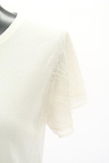 Te chichi(テチチ)の古着「装飾シアーレース袖ニット(ニット)」大画像4へ