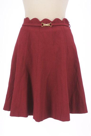WILLSELECTION(ウィルセレクション)の古着「ベルト付きスカラップミニフレアスカート(ミニスカート)」大画像1へ