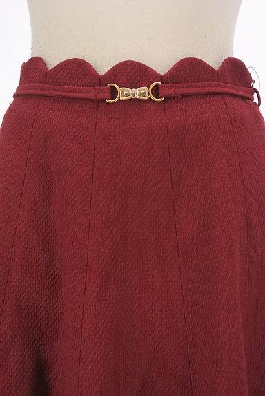 WILLSELECTION(ウィルセレクション)の古着「ベルト付きスカラップミニフレアスカート(ミニスカート)」大画像4へ