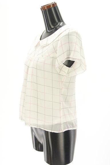 LODISPOTTO(ロディスポット)の古着「チェック柄丸襟シフォンブラウス(カットソー・プルオーバー)」大画像3へ