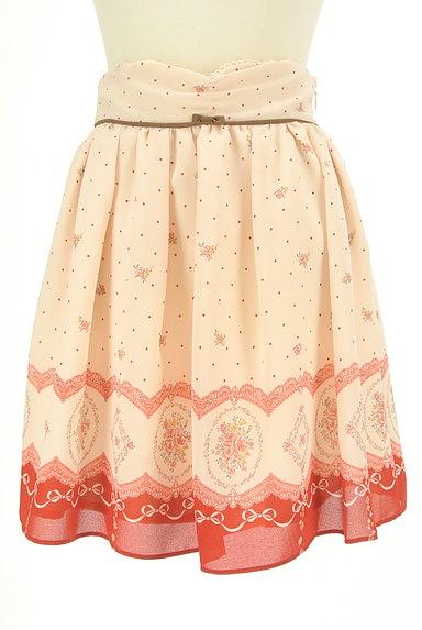 LODISPOTTO(ロディスポット)の古着「ドット×花柄シフォンミニスカート(ミニスカート)」大画像1へ