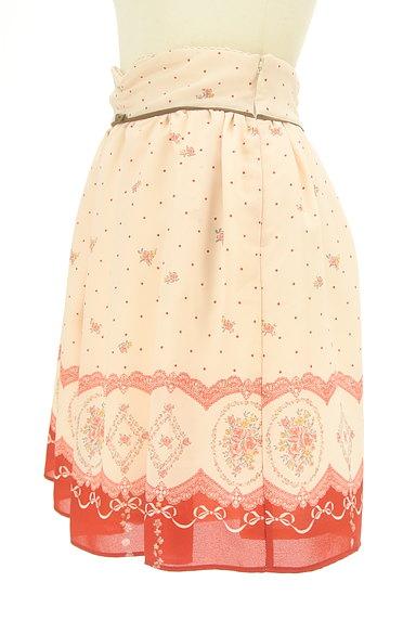 LODISPOTTO(ロディスポット)の古着「ドット×花柄シフォンミニスカート(ミニスカート)」大画像3へ