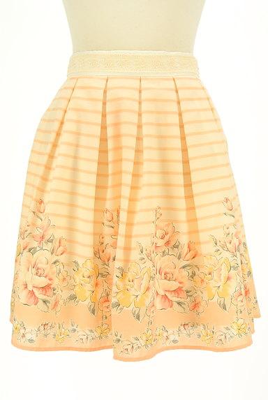 LODISPOTTO(ロディスポット)の古着「ボーダー×花柄フレアミニスカート(ミニスカート)」大画像1へ