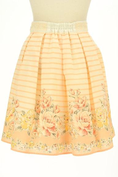 LODISPOTTO(ロディスポット)の古着「ボーダー×花柄フレアミニスカート(ミニスカート)」大画像2へ