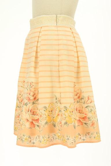 LODISPOTTO(ロディスポット)の古着「ボーダー×花柄フレアミニスカート(ミニスカート)」大画像3へ