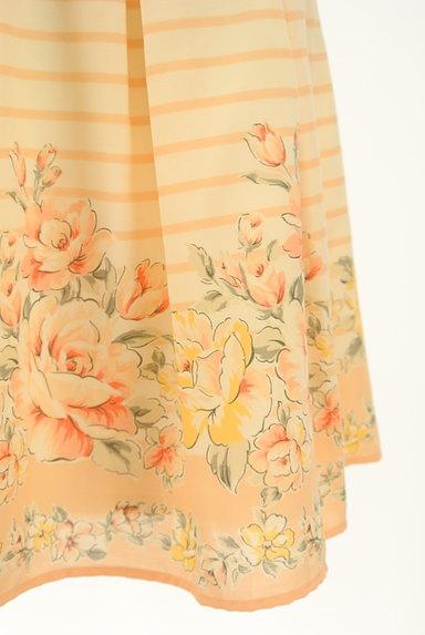 LODISPOTTO(ロディスポット)の古着「ボーダー×花柄フレアミニスカート(ミニスカート)」大画像5へ