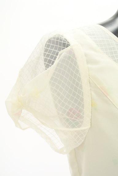 LODISPOTTO(ロディスポット)の古着「花柄シアー膝丈フレアワンピース(ワンピース・チュニック)」大画像4へ