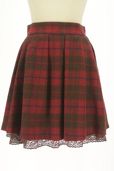 LODISPOTTO(ロディスポット)の古着「裾レースチェック柄フレアミニスカート(ミニスカート)」大画像1へ