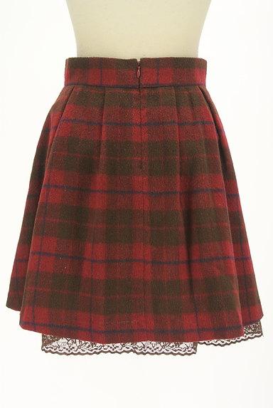 LODISPOTTO(ロディスポット)の古着「裾レースチェック柄フレアミニスカート(ミニスカート)」大画像2へ